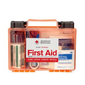 American Red Cross Clear Cover 118-piece First Aid Kit